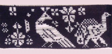 Close up of traditional Mopan embroidery